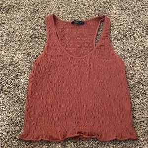 American Eagle Maroon Cropped tank (M)
